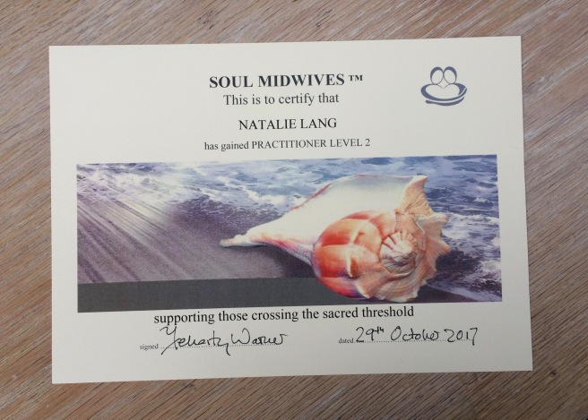 Soul Midwife certificate